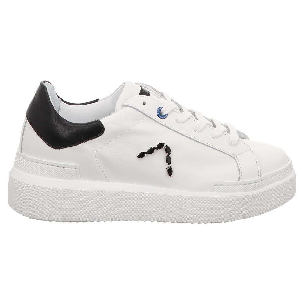 Ed Parrish | Sarah | Low Top Sneaker - weiß | strass nero
