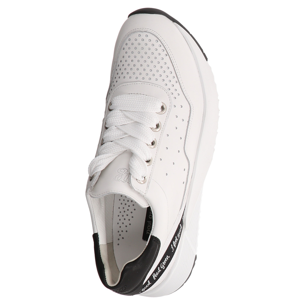 Paul Green | Sneaker | Schnürschuh - weiß | white black