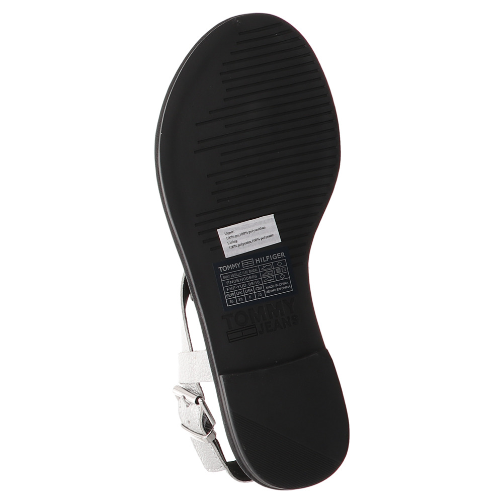 Tommy Hilfiger | Metallic Flat Sandal | Sandalette - silver