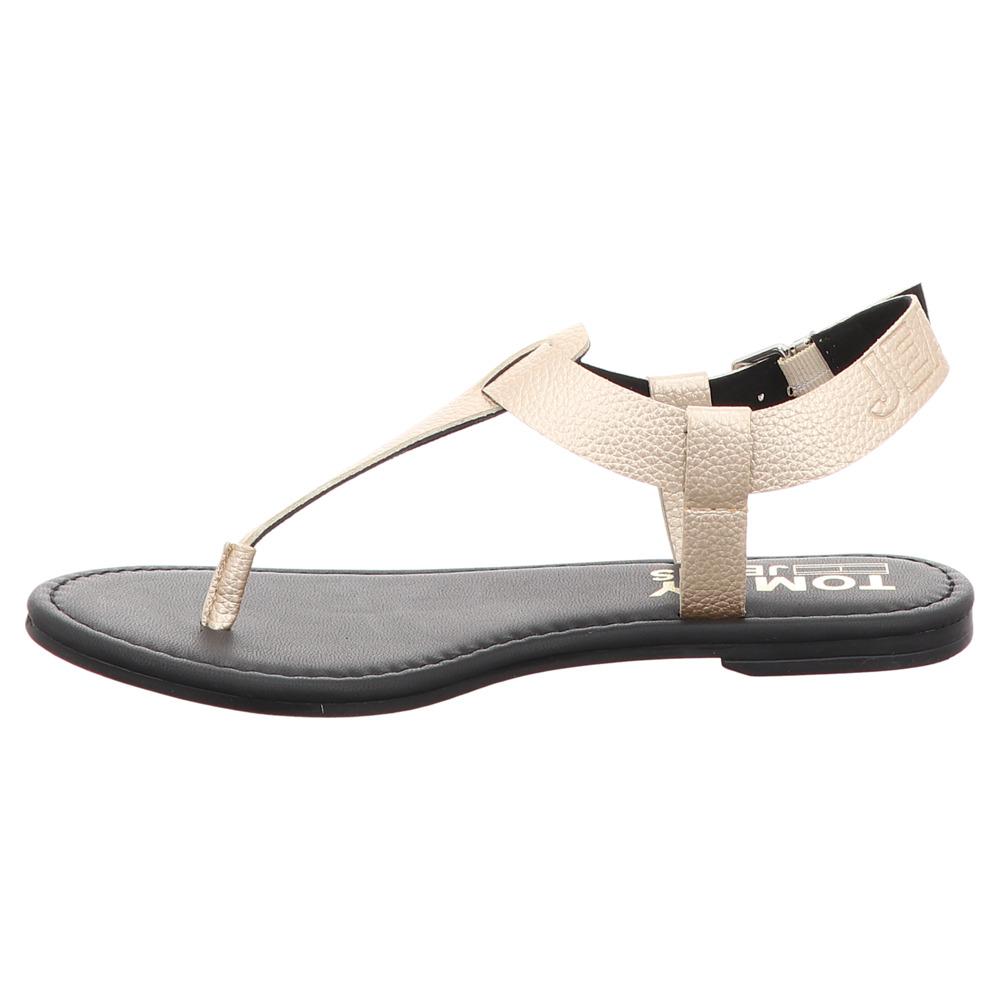 Tommy Hilfiger | Metallic Flat Sandal | Sandalette - light gold