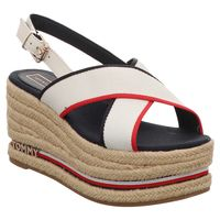 Tommy Hilfiger | Corporate Ribbon | Keilsandalette - weiß