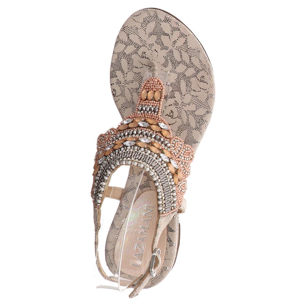 Lazamani | Zehentrenner Sandale - beige | nude