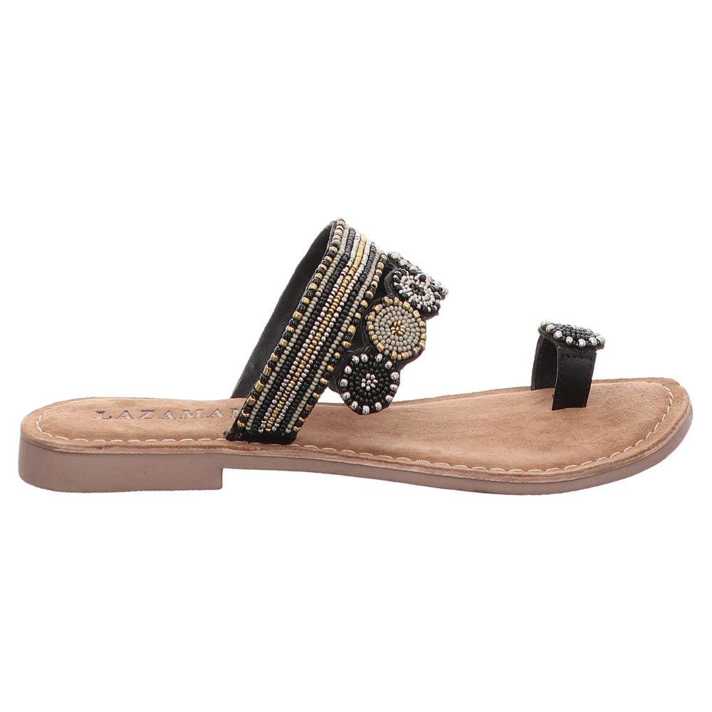 Lazamani | Pantolette | Flats - schwarz | black