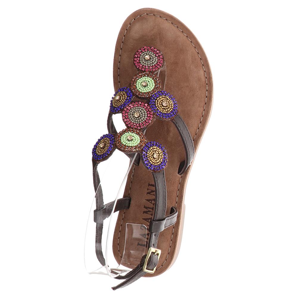 Lazamani | Zehentrenner Sandale - braun | brown