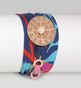Vivabellamore | Seiden Armband - blau | bunt