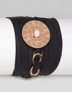 Vivabellamore | Seiden Armband | AG 194 - schwarz