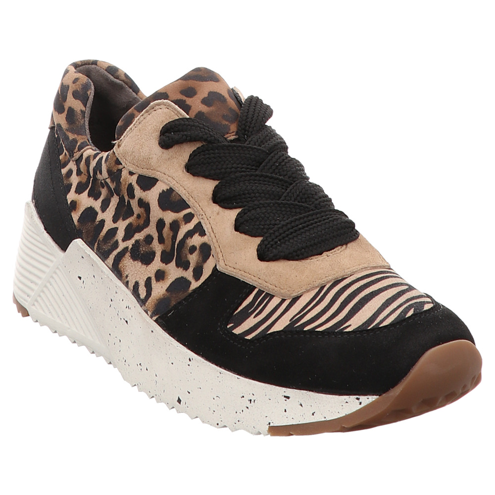 Paul Green | Damen Sneaker - schwarz |  leopardino