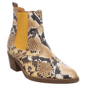Gabor | Stiefelette | Chelsea Boot  - gelb | herbst snake