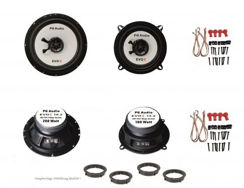 13cm und 16cm Coax 2-Wege-Koax, Alfa Romeo 145, Lautsprecher Tür Vorne + Hinten  – Bild 1