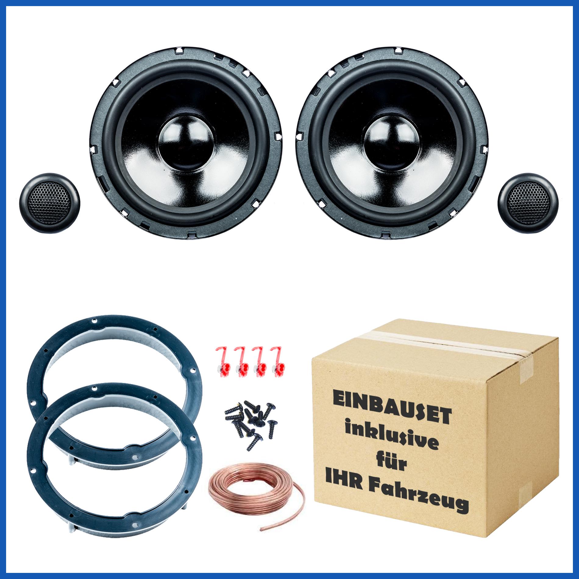 VW Golf 4 und Golf 6 Lautsprecher Einbauset, Tür vorne, PG Audio Evo II 2.16 001