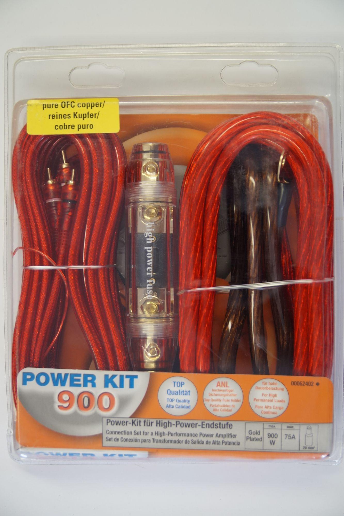 Car Hifi-Auto Kabel-Set, Powerkit 900, 100%Kupfer B Ware 001