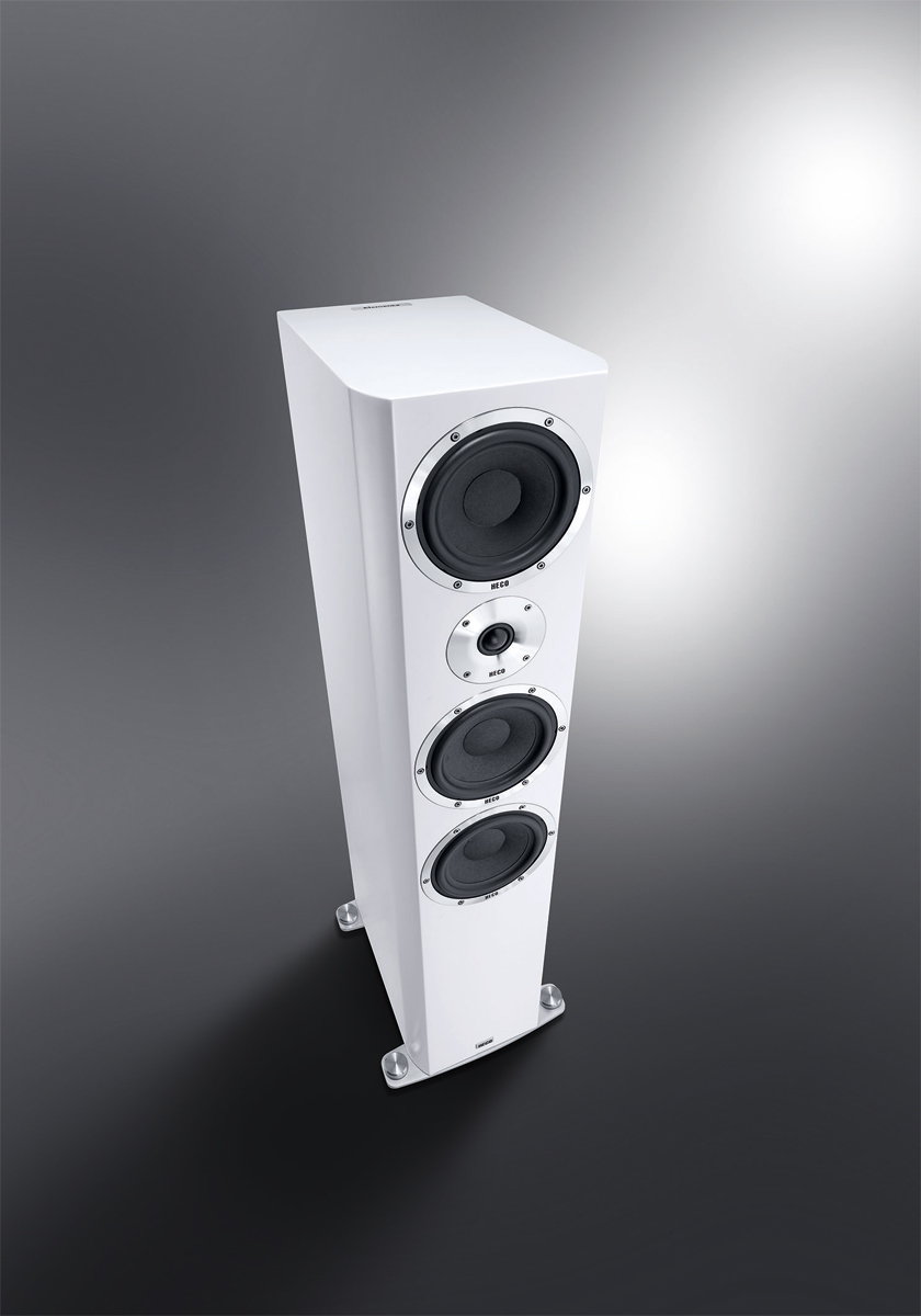 Heco Elementa 700 3-Wege Bassreflex Lautsprecher weiß/seidenmatt, 1 Stück – Bild 1