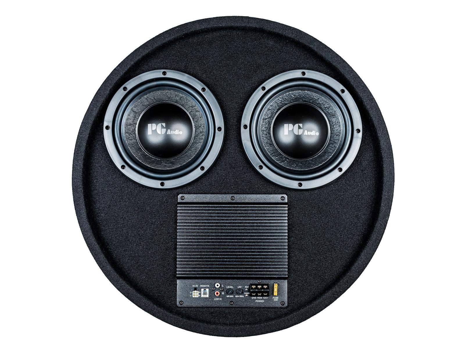 PG Audio aktiver Reserverad Subwoofer 2 x 8 Zoll ,1 Stück Neu – Bild 1
