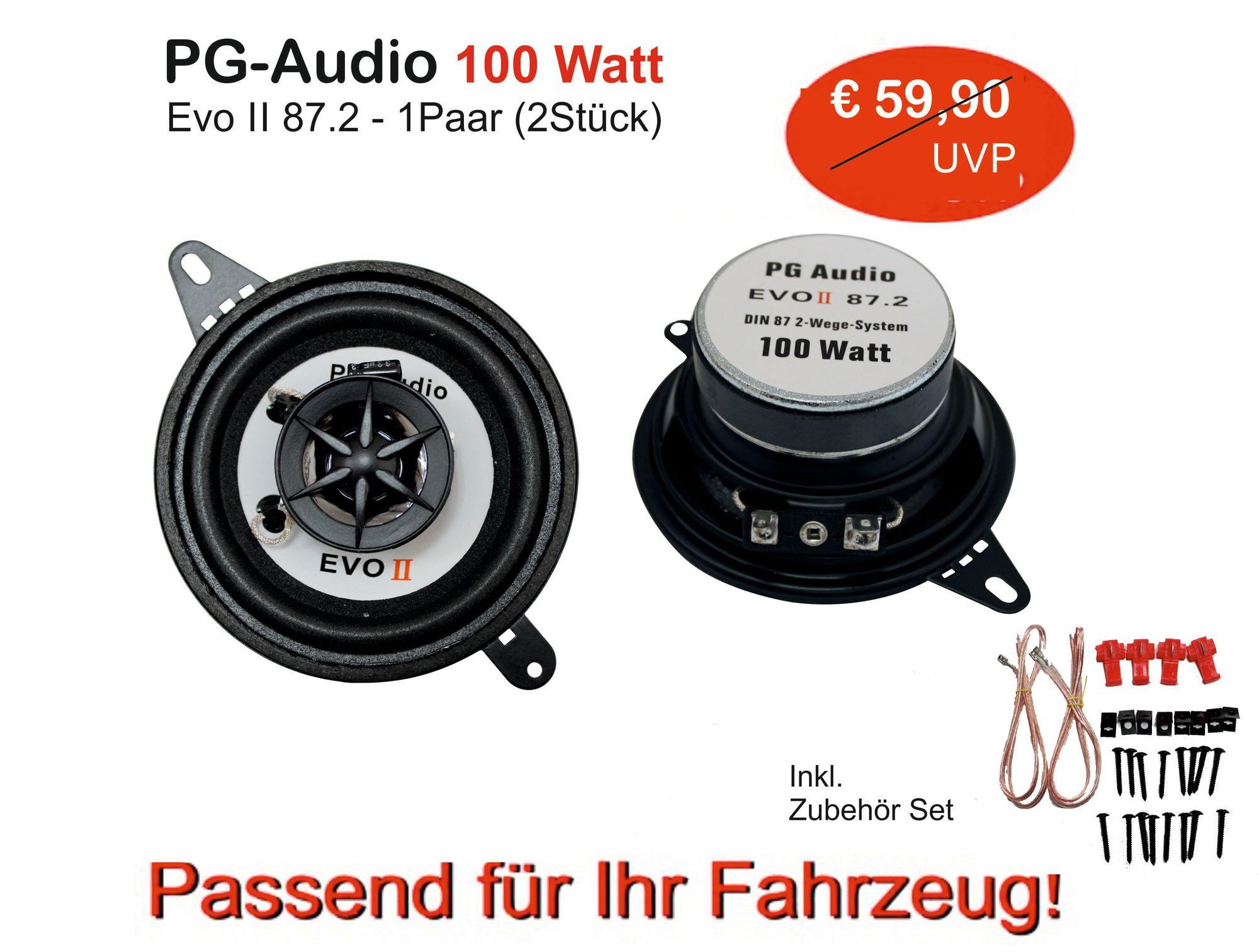 Lautsprecher 8,7cm 2-Wege Koax Coax Armaturenbrett,Fiat Marea,Punto,Punto Cabrio 001
