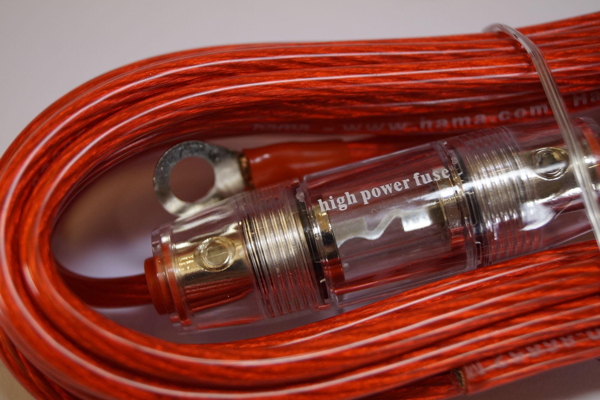 Car Hifi-Auto Kabel-Set, Hama AMP KIT 6 mm2 – Bild 4