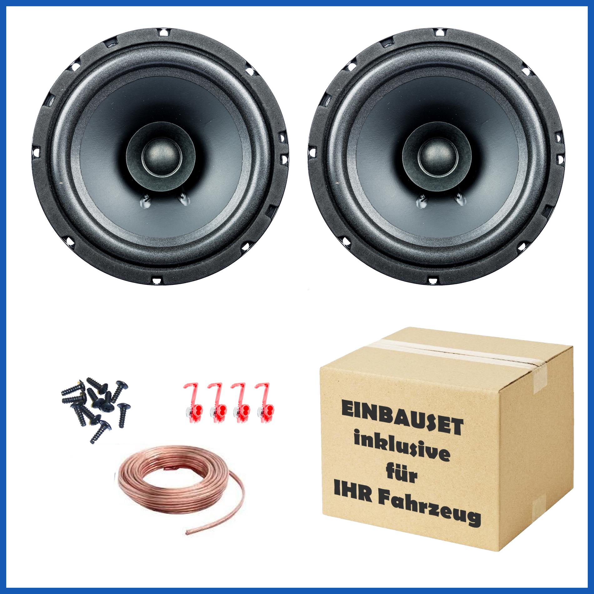 1 Paar PG Audio EVO I 16.2, 16 cm Dual Cone Lautsprecher für Alfa,Fiat,Lancia & Chrysler – Bild 1