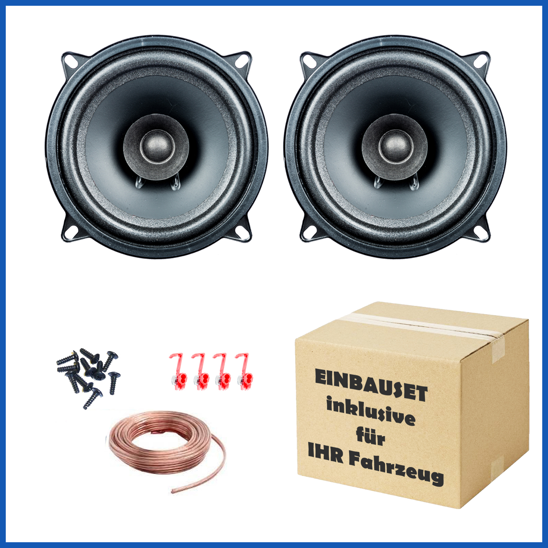 1 Paar PG Audio EVO I 13.2, 13 cm Dual Cone Lautsprecher passend für Alfa Romeo, Fiat, Saab, Smart – Bild 1