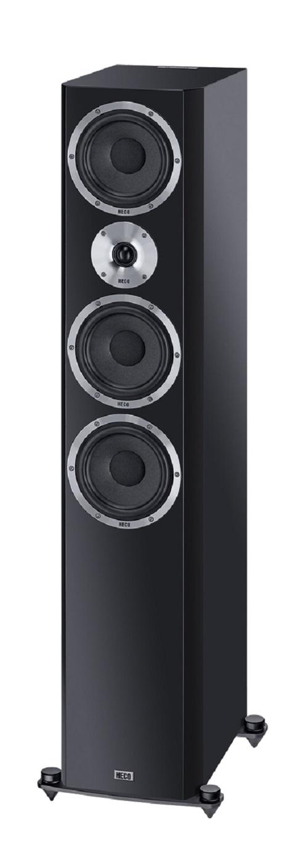 B Ware Heco Elementa 700 3-Wege Bassreflex Lautsprecher schwarz/seidenmatt, 1 Stück