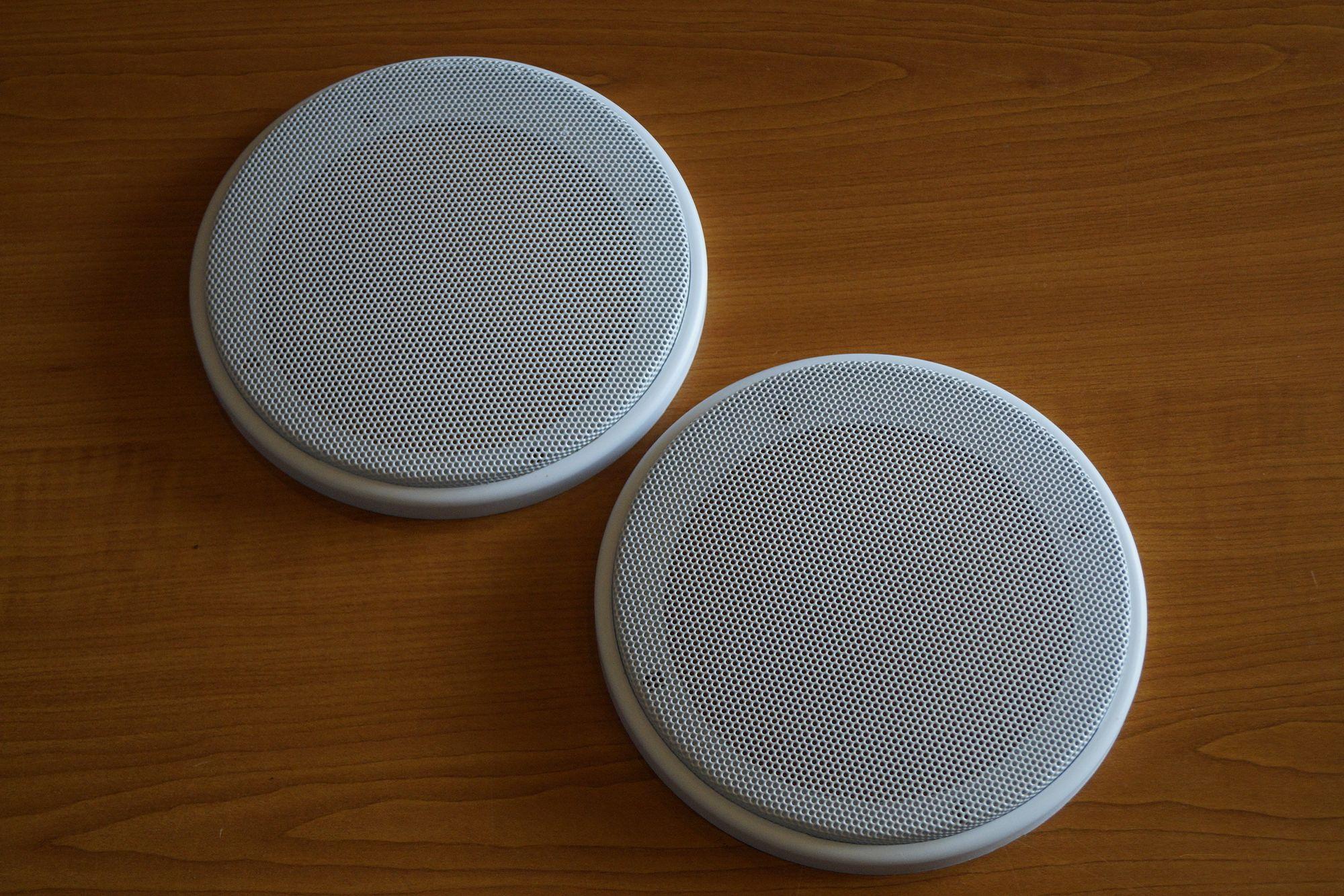 1 Paar DIN-130 Lautsprecher-Universalabdeckung Abdeckung Grill weiß