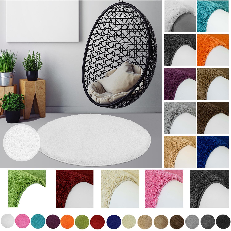 hochflor shaggy runderteppich teppich rund teppich einfarbig wohnzimmer k che farben. Black Bedroom Furniture Sets. Home Design Ideas