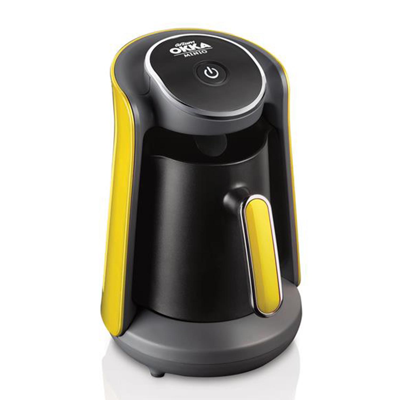 hochwertige arzum okka mino mokka maschine t rkischer kaffee kaffeemaschine 1 4 tassen 480w gelb. Black Bedroom Furniture Sets. Home Design Ideas