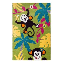 Kinderteppich Teppich Kinder Spielteppich Affen Äffchen Kinderzimmer Spielzimmer