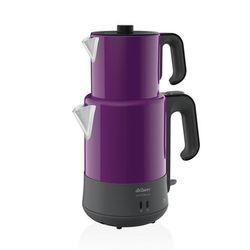 Arzum Caycim Delux Edelstahl Wasserkocher Teekocher Teemaschine Teekanne Lila