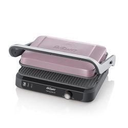 Arzum Edelstahl Deluxe Toaster Kontaktgrill Sandwichmaker Toastmaschine Grill 1800W Pastell Lila