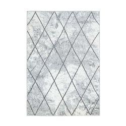 Teppich Flachflor Moda Geometrische Muster Raute Optik in Grau Weiß Wohnzimmer
