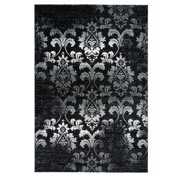 Teppich Schwarz Weiß Ornamenten Floralen Muster Elegant Vintage Look