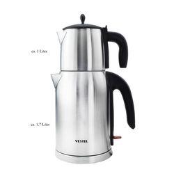 Vestel Teekocher Teebereiter Wasserkocher Edelstahl ca. 2200W ca.1,7 Liter