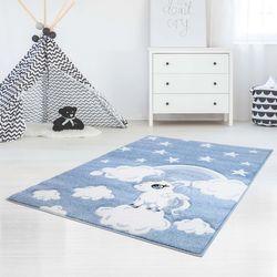 Kinderteppich Teppich Hochwertig Bueno Sterne Wolken Regenbogen Einhorn Kinderzimmer Blau