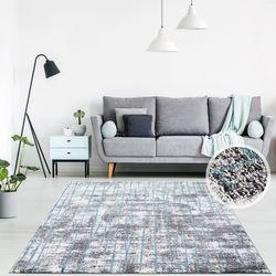 Teppich Meliert Kurzflor Flachflor Läufer Modern Abstrakt Trendiges Design Wohnzimmerteppich Jugendzimmer Anthrazit Blau Weiß Grau