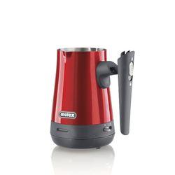 MULEX elektrischer Edelstahl Mokkakocher Mokka- Zubereiter Espressokocher Kaffeekocher Cezve 800W Rot