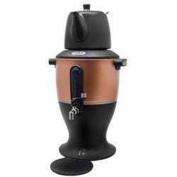 Mulex Samowar Wasserkocher Teekocher Zapfhahn Frischer Tee automatische Warmhaltefunktion 2000W Porzellan Kanne 4,0 Liter Kupfer