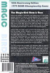 1979 NCAA Championship Game: Magic vs. Bird - Basketball DVD