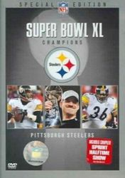 NFL Super Bowl XL 40 Champions Pittsburgh Steelers Football DVD