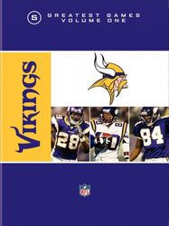NFL Greatest Games Series Minnesota Vikings Football 5 DVD Set
