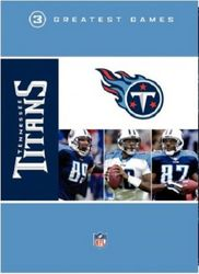 NFL Greatest Games Series Tennessee Titans Football 3 DVD Set