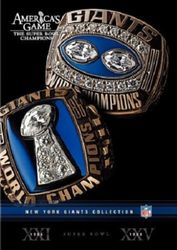 America's Game New York Giants Super Bowl NFL Football 2 DVD Set