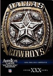 Dallas Cowboys 1995 Super Bowl XXX 30 America's Game NFL Football DVD