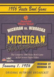 College Football 1986 Fiesta Bowl Game Michigan vs. Nebraska DVD
