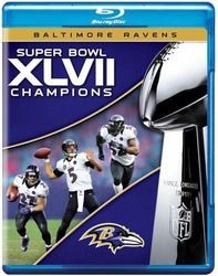 Baltimore Ravens Super Bowl XLVII 47 NFL Football codefree Blu-ray