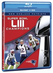 New England Patriots Super Bowl LIII 53 NFL Football Blu-ray + DVD
