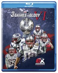 NFL Road To Super Bowl LIII 53 - 3 Games To Glory VI Patriots Football 3 Blu-ray Discs