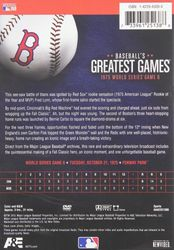 ML Baseball Greatest Games 1975 World Series Game 6 Reds vs. Red Sox DVD