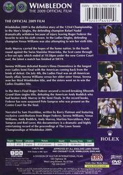 Wimbledon The 2009 Official Film Tennis DVD