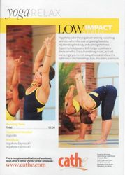 cathe Friedrich Low Impact Series yoga RELAX DVD