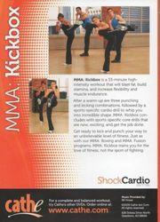 cathe Friedrich Shock Cardio Series MMA Kickbox DVD punch kick workout