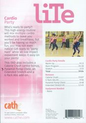 cathe Friedrich LiTe Series Cardio Party DVD